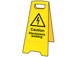 A-board, caution electricians working