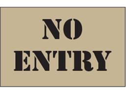 No entry heavy duty stencil