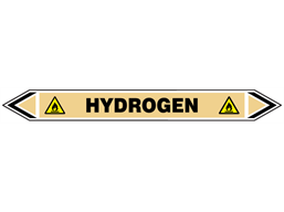 Hydrogen flow marker label.