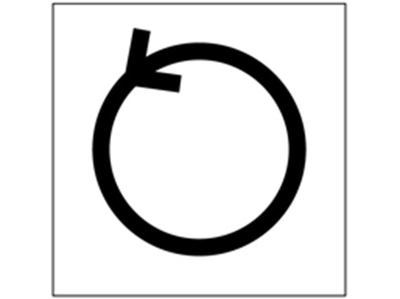Anti clockwise rotation symbol labels.