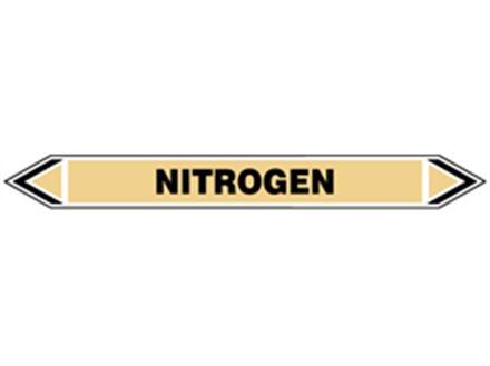 Nitrogen flow marker label.
