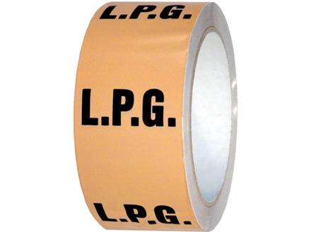 LPG pipeline identification tape.