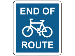 End of cycle route sign