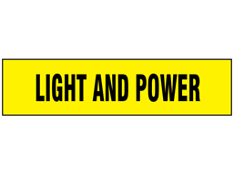 Light and Power label
