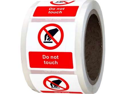 do not touch symbol and text safety label rlp03 label