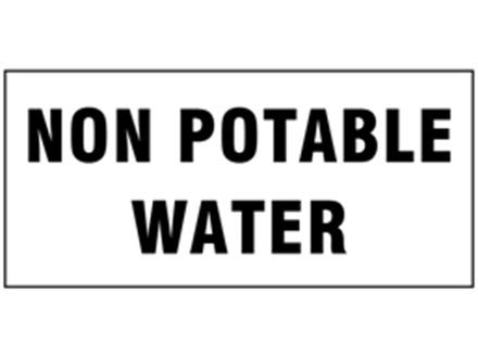 Non potable water pipeline identification tape.