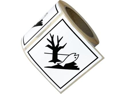 Marine pollutant, hazard diamond label