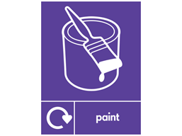 Paint WRAP recycling signs