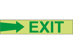 Photoluminescent Exit and safety directional arrow tape