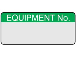 Equipment number aluminium foil labels.