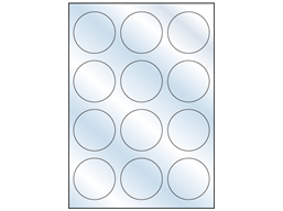 Transparent laminate labels, 60mm diameter