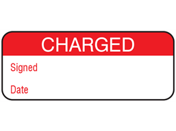 Charged maintenance label.