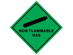 Non flammable gas hazard warning diamond sign
