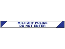 Military Police, do not enter barrier tape