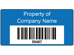Coloured Barcode Label (25 x 50mm)