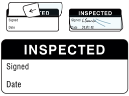 Inspected write and seal labels.