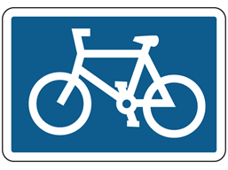 Cycle route symbol sign