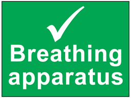 Breathing apparatus safety sign.