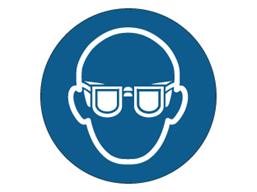 Eye protection symbol label