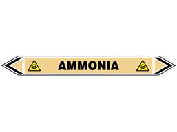 Ammonia flow marker label.