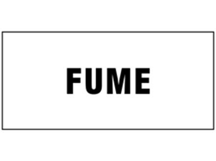 Fume pipeline identification tape.