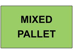 Mixed pallet labels