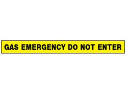Gas emergency, do not enter barrier tape