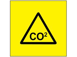 CO2 (carbon dioxide) symbol label.