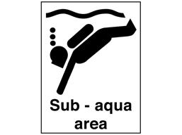 Sub-aqua area sign.