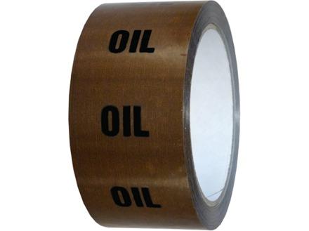 Oil pipeline identification tape.
