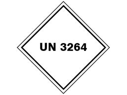 UN 3264 (Corrosive liquid, acidic, inorganic) label.