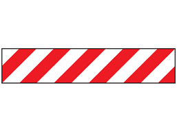 Heavy duty barrier tape, red and white chevron.
