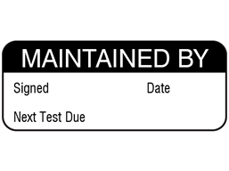 Maintained by maintenance label.
