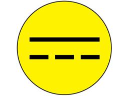 Direct current symbol label.