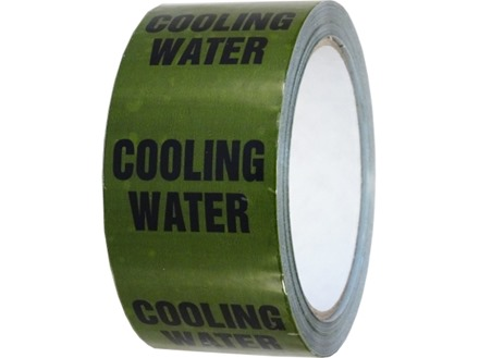 Cooling water pipeline identification tape.