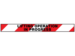 Lifting operations in progress barrier tape