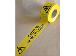 Caution high voltage barrier tape