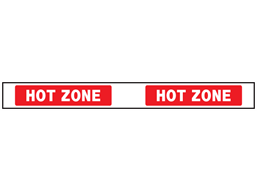 Hot zone barrier tape
