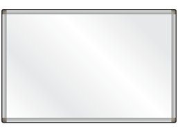 Dry wipe magnetic board