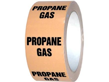 Propane gas pipeline identification tape.