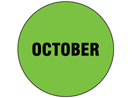 October inventory date label
