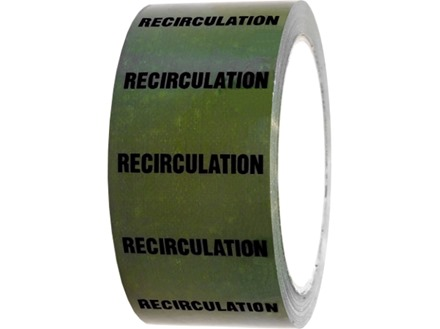 Recirculation pipeline identification tape.