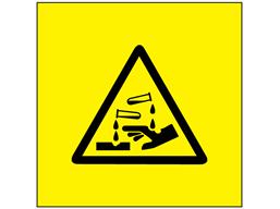 Corrosive symbol labels.
