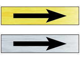 Directional arrow public area sign