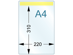 Document pocket, A4 vertical, with magnetic fixing