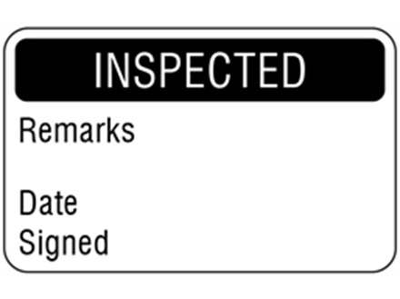Inspected quality assurance label