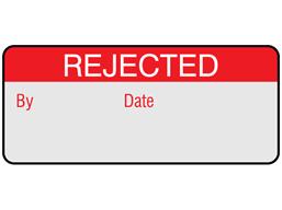 Rejected aluminium foil labels.