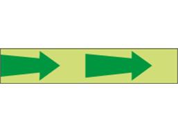 Photoluminescent safety directional arrow tape