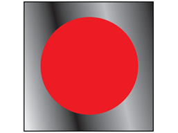 Red window safety decal