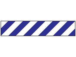 Reflective tape, blue and white chevron